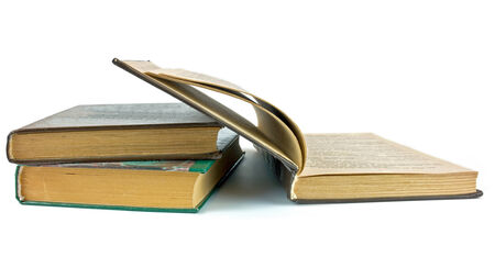 scientific literature: Open book  Stock Photo
