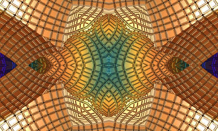 generate: Abstract picture, weaving of rays and lines Stock Photo