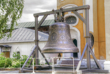 enormous: Enormous bell on territory of the Novospasskogo friary