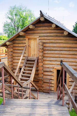 sights of moscow: RUSSIA, MOSCOW - June 05.2014: Ancient  wooden buildings collected from all parts of Russia in Kolomenskoye Editorial
