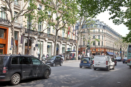 FRANCE, PARIS - May 03.2014: Squares and streets of historical center of ancient city