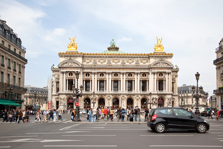 palais garnier: FRANCE, PARIS - May 03.2014: Theatre Palais Garnier. One of the most famous opera and ballet theaters in the world