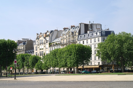 FRANCE, PARIS - May 03.2014: Squares and streets of historical center of ancient city. Squares Vauban