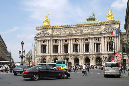 palais garnier: FRANCE, PARIS - May 03.2014: One of the most famous opera and ballet theaters in the world. Theatre Palais Garnier