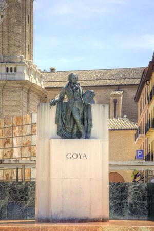 Famous Spanish artist and engraver Francisco Goya photo
