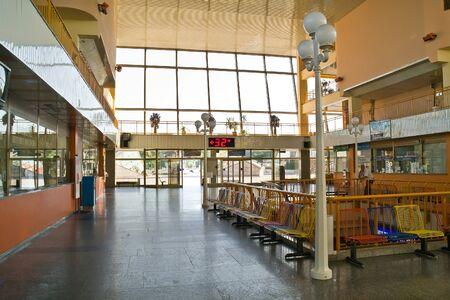 inwardly: UKRAINE, ODESSA - June 11,2014: Modern building of marine station, interior