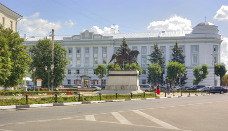 mikhail: RUSSIA, TVER - July, 16.2014: Monument to the Grand duke to Mikhail of Tver Editorial