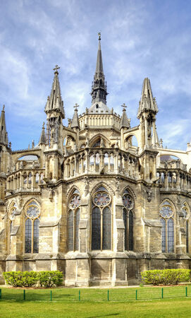 Old Catholic cathedral in the Gothic style. Notre-Dame de Reims photo