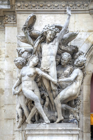 Ancient sculpture group Dance. Facade of the Opera Granier