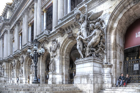 FRANCE, PARIS - April 29.2014: One of the most famous opera and ballet theaters in the world