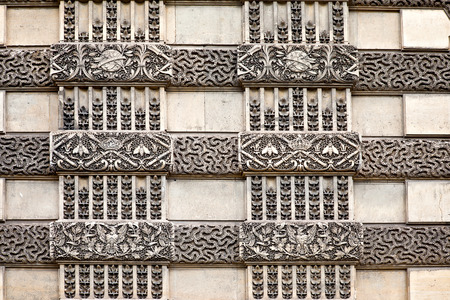 FRANCE, PARIS - April 29.2014: Decorative pattern on the wall of museum Louvre photo