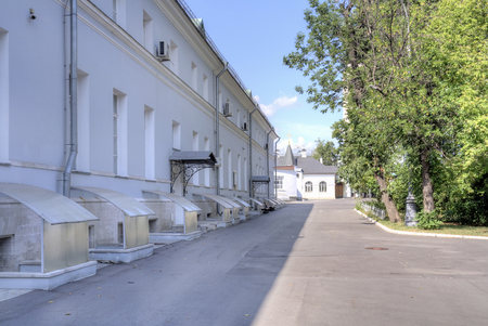 RUSSIA. MOSCOW - August 04. 2014: Old buildings on the campus ambulance Sklifosovsky