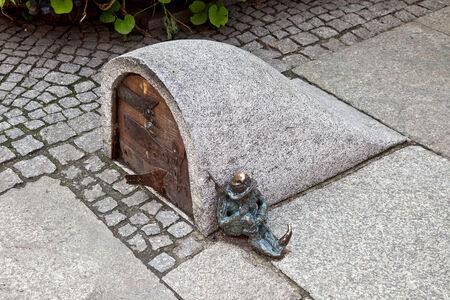 dwarfs: POLAND, WROCLAW - May 08.2014: Amusing dwarfs, one of sights of city
