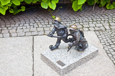 dwarfs: POLAND, WROCLAW - May 08.2014: Amusing dwarfs, one of sights of city