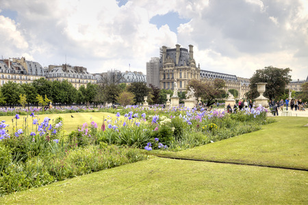 FRANCE, PARIS - April 30.2014: Part of the palace and park complex Tuileries in the historic center of city