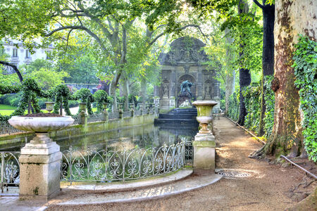 Marie de Medici Fountain in the park near the Luxembourg Palace
