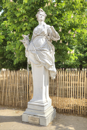 Sculpture Ceres or Lete. Part of the palace and park complex in the historic center of the city Paris