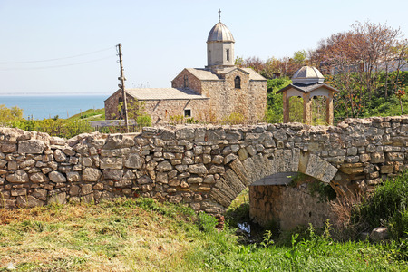 ditch: Ancient orthodox temple on the outskirts of Feodosia
