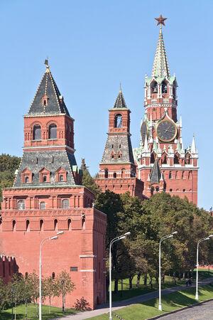 spasskaya: Konstantino-Eleninskaya, Nabatnaya, Tsarskaya and Spasskaya tower of Kremlin