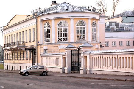 merchant: An ancient merchant mansion is in the historical center of city of Moscow