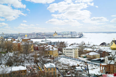 confluence: Municipal landscape. Streets in the city of Nizhny Novgorod