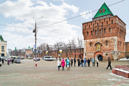 minin: RUSSIA, NIZHNY NOVGOROD - November 17.2014: Minin and Pozharsky Square in the historic center of the city
