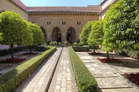 isabel: SPAIN, SARAGOSSA - May 4.2014: Aljaferia one of the best preserved Moorish palaces in city Saragossa