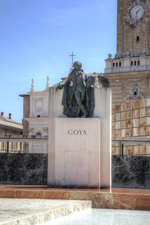 engraver: SPAIN, SARAGOSSA - May 4.2014: Famous Spanish artist and engraver Francisco Goya