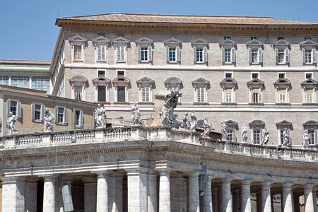pontiff: EUROPE, VATICAN - May 02.2012: The residence of the Pope in Vatican City