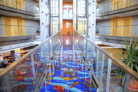 municipal: SPAIN, BARCELONA - May 5.2014: Interior of modern municipal hotel Editorial