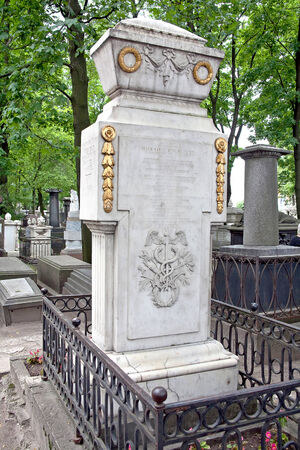 inventor: RUSSIA, ST. PETERSBURG — June 27,2009: Tomb of the famous scientist and inventor Mikhail Lomonosov