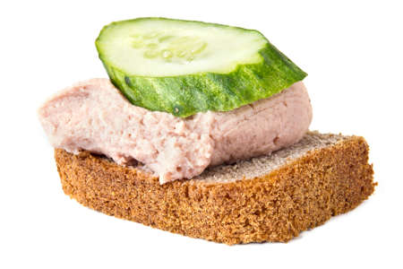 Thick sandwich is isolated on a white background photo