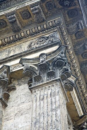 pilasters: Fragment of column of the Kazan cathedral is in city Saint-Petersburg Stock Photo