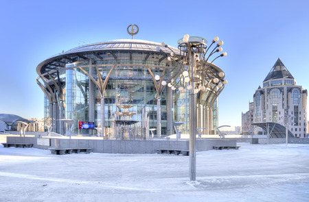 RUSSIA, MOSCOW - January 21.2014: Moscow International House of Music Theatre Philharmonic largest cultural center of city
