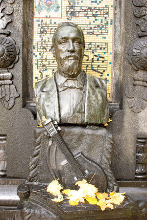 composer: RUSSIA, ST. PETERSBURG - June 27,2009: Tomb of the famous composer and scholar Borodin