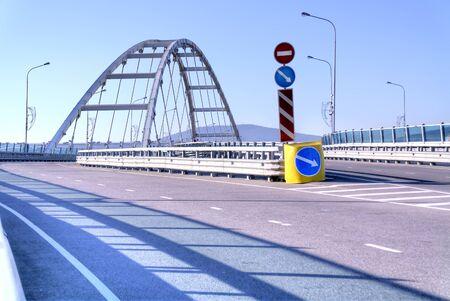 overpass: Modern road overpass, built in city Adler