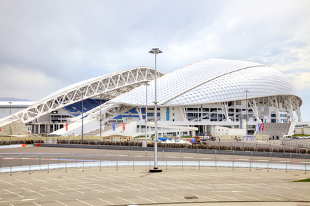 fisht: CAUCASUS, SOCHI, RUSSIA - April 27.2015: Olympic objects of winter olympic games 2014. Venue of the opening and closing of the Winter Olympics games