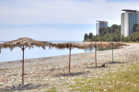 climatic: Sanatorium-resort complex ashore the Black sea. The city beach and promenade climatic resort