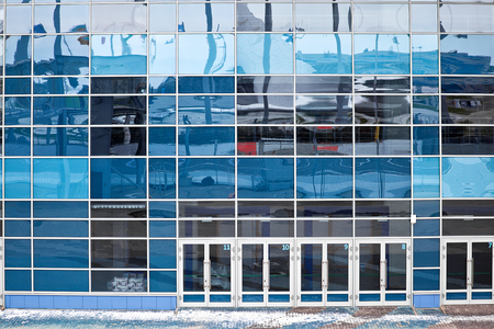 figureskating: CAUCASUS, SOCHI, RUSSIA - April 27.2015: sports competition objects of winter sports competition games 2014. Iceberg Skating Palace. Competition venue for figure skating and short-track