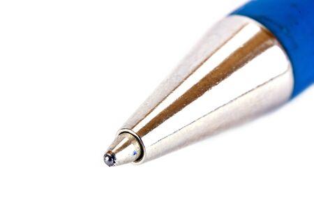 ball pens stationery: Moderno bolígrafo close-up aislados sobre fondo blanco