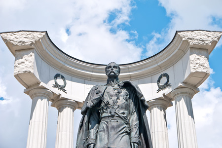 the liberator: MOSCOW, RUSSIA - July 22.2015: The monument to Emperor Alexander II Liberator