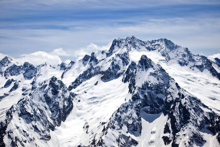 climatic: One of the mountains in the climatic and ski resort Dombay