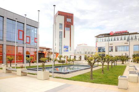 moll: SOCHI, ADLER, RUSSIA - April 28.2015: Territory of new modern trade-entertaining complex Mandarin MOLL