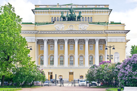 eldest: SAINT PETERSBURG, RUSSIA - June 03.2015: Alexandrinsky Theatre one of the eldest legitimate dramas of Russia, saved to our time