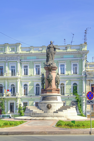 empress: Odessa. Monument to Empress Catherine, who issued a decree established a city Odessa Editorial