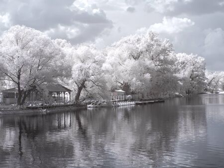 MOSCOW, RUSSIA - May 27.2014: Infrared Photography. Territory of All-Russian Exhibition Center