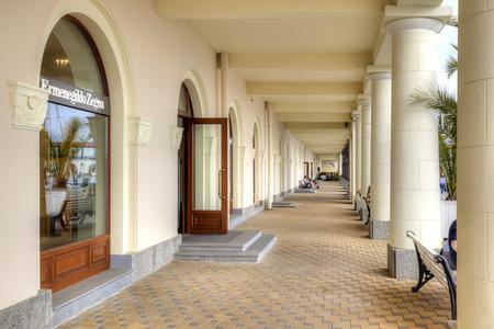 complex navigation: SOCHI, RUSSIA - April 29.2015: Complex of building of municipal marine port Editorial