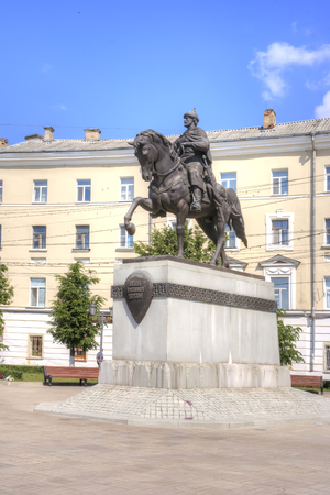 mikhail: TVER, RUSSIA - July, 16.2014: Monument to the Grand duke to Mikhail of Tver, later canonized