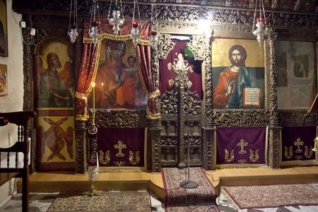 inwardly: Church of the XVI century of Our Lady Mavritosy. Ancient iconostasis