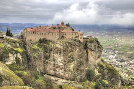 16th century: Holy Monastery of Saint Stephen, built in the 16th century in a monasterial complex Meteora Stock Photo